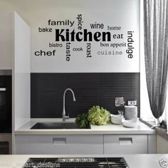 inspirational wall sticker quotes words art removable kitchen dining