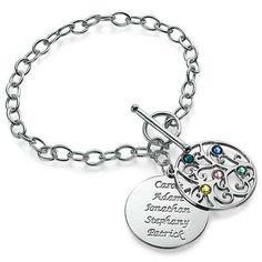 Silver Tree of Life Bracelet - Filigree Style | MyNameNecklace