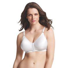 Playtex 18 Hour Women's Sensationally Sleek Front Close Wireless Bra 4930 White, Size: 40DD