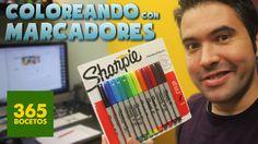 COLOREANDO CON MARCADORES SHARPIE - MATERIALES DE ARTE  -  Sharpie Unbox...