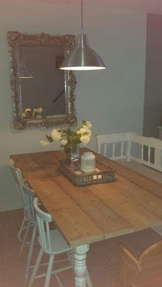 Spiegel barok steigerhouten eettafel