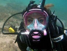 Scuba Diving Mask, Women's Diving, Dive Mask, Best Scuba Diving, Scuba Wetsuit, Diving Wetsuits, Scuba Diving Equipment, Scuba Girl, Full Face Mask