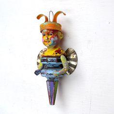 vintage antique art doll ornament HANDMADE ORIGINAL vintage boy by Elizabeth Rosen