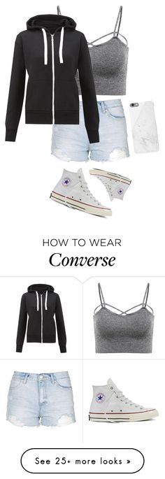 """Untitled #84"" by charlotteadavies on Polyvore featuring Topshop, Converse and Native Union"