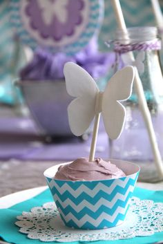 #cupcakes Butterfly cupcake     If you like this pin, re-pin or like it :)   http://subjectbase.com