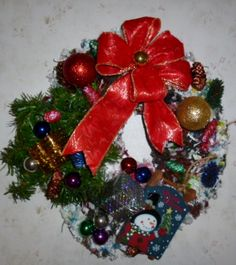 #Bright Christmas Wreath Looking for a Home. $35.00