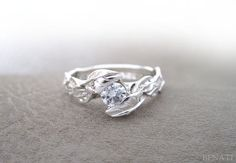 Hey, I found this really awesome Etsy listing at https://www.etsy.com/listing/210941836/leaf-diamond-engagement-ring-engagement