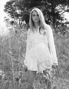 cara delevingne black and white