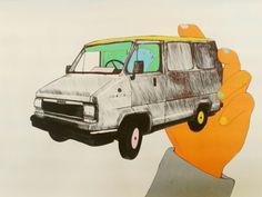 Valeria Bertolini- 30 days challenge- qualcosa che non hai mai disegnato- furgone criceto