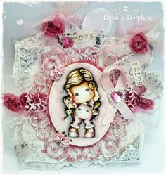 Magnolia cards by Debbie: Breast Cancer Awareness Month - Hear No Evil Tilda
