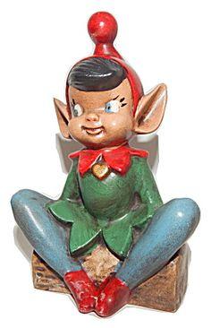 Elf Figurine Vintage Ceramic Christmas Decoration