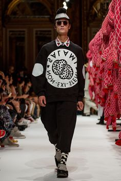 """Henrik Vibskov showed his Spring/Summer 2017 collection titled""""Salami Kitchen of the Non-Exi-Stent"""", during Paris Fashion Week."""