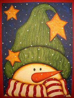 christmas folk art paintings   Click image to enlarge...
