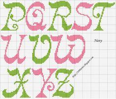 Gráfico Alfabeto - Ponto Cruz - 1000 Artes Mais