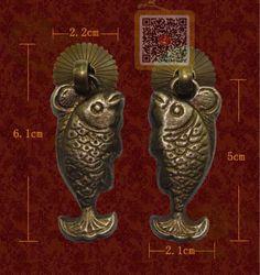 Solid Brass Fish Door Knobs / Drawer Pulls by HuntandLane on Etsy ...
