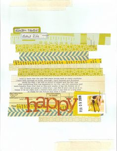 strips of paper scrapbook layout Washi Tape Cards, Masking Tape, Scrapbook Journal, Scrapbook Paper, Scrapbook Photos, Art Journal Pages, Art Journals, Scrapbooking Layouts, Digital Scrapbooking