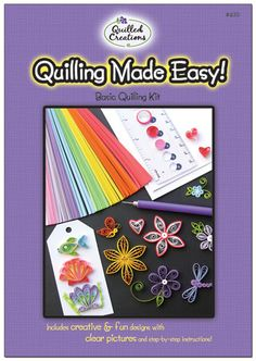 Multicoloured Quilled Creations Super Looper Quilling Comb Acrylic 2-Piece