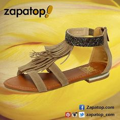 49f01bfd Zapatos de mujer con estilo · #sandalias taupe planas de moda #Xti para el  #verano ☀👡 28,