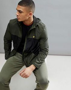 Shop Lyle & Scott Fitness Baxter Water Resistant Windbreaker Jacket In Green at ASOS. Windbreaker Jacket, Bomber Jacket, Lyle Scott, Green Fashion, Sport Outfits, Military Jacket, Fashion Online, Asos, Water