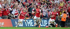 Super Goal ... Ramsey Celebrate his goal winning FA cup 2013/14 Final