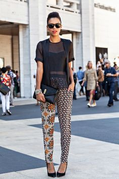 Style Me Grasie / nyfw – the printed pants // via bestfashionbloggers.com