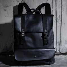 ByTheR Men's Fashion 1707 Leather Mix Backpack Handy UrbanChic Bag P000BIAS #ByTheR #Backpack