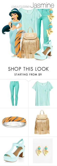 """Jasmine"" by lovelylittledisney ❤ liked on Polyvore featuring SuperTrash, H&M, Carlos by Carlos Santana, Ottoman Hands, disney, aladdin, disneycharacter and lovelylittledisney"