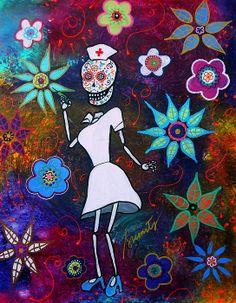 Dia de los Muertos Nurse