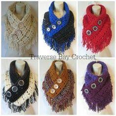 Crochet Fringe Triangle Scarf Free Pattern   Traverse Bay Crochet