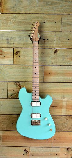Custom Moniker Anastasia model in seafoam with gold hardware. Design your custom Moniker guitar at monikerguitars.com