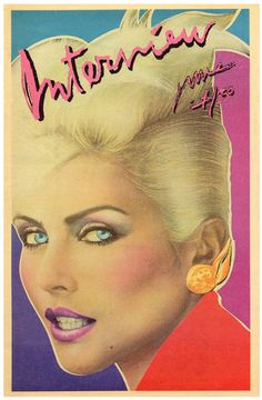 Interview, Vol. 6 (June (cover photograph of Debbie Harry by Barry McKinley; cover design by Richard Bernstein) printed ink on newsprint 16 x 11 x in.) The Andy Warhol Museum, Pittsburgh (This is the eighties! Pop Art, Andy Warhol Museum, Blondie Debbie Harry, Album Covers, Cover Art, Pop Culture, Interview, Magazine Covers, 80s Design