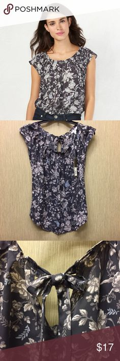 LC Lauren Conrad Pleated Top Brand new with tags. Gorgeous floral design. Keyhole back with tie closure. Soft and comfy. Very cute! LC Lauren Conrad Tops Blouses