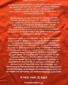 #22q11 awareness shirt! Bekendheid is nodig voor 22q11 syndroom