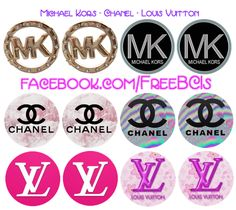 Designer BCI sheet #1 - Michael Kors, Chanel, Louis Vuitton