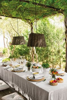 Dream house surrounded by nature in the Spanish countryside While early within thought, this pergola Backyard Canopy, Garden Canopy, Pergola Swing, Canopy Outdoor, Pergola Patio, Pergola Plans, Pergola Kits, Pergola Ideas, Steel Pergola