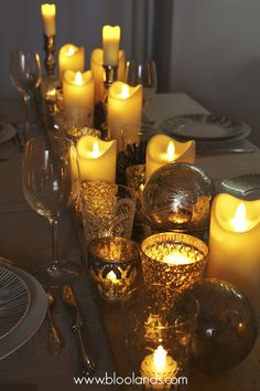 Cierges LED en cire, flamme oscillante et chauffe-plats Bloolands pour votre table de Noël. Christmas Potluck, Bougie Led, Decoration Table, Candle Holders, Artisan, Candles, Inspiration, Magazine, Sweet