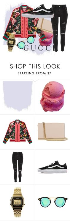 """""""Presenting the Gucci Garden Exclusive Collection: Contest Entry"""" by unique-it-up ❤ liked on Polyvore featuring Gucci, Diane Von Furstenberg, River Island, Vans, Casio and gucci"""