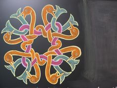Waldorf ~ 4th grade ~ Form Drawing ~ Celtic Knot ~ chalkboard drawing