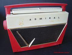 ADMIRAL Portable Transistorradio Model 7L12 (USA 1956), via Flickr.