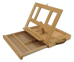 ARTIST DESKTOP EASEL - WOODEN Portable SMALL STORAGE SHELF Painting Drawing NEW picclick.com