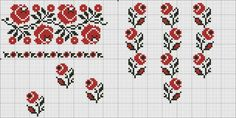 Cross Stitch Borders, Cross Stitch Rose, Cross Stitch Charts, Cross Stitching, Cross Stitch Patterns, Vintage Cross Stitches, Folk Embroidery, Needlework, Kids Rugs