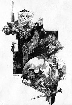 Italian Masters of Comic Art: Sergio Toppi - Leggende del Salento #5 - Pen and ink on paper