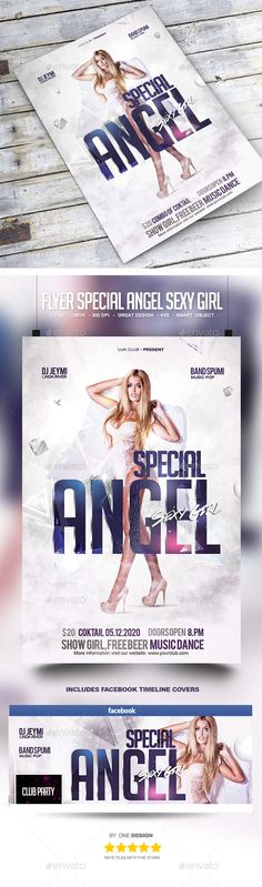 Flyer Special Angel Sexy Girl Template PSD #design Download: http://graphicriver.net/item/flyer-special-angel-sexy-girl/13570404?ref=ksioks