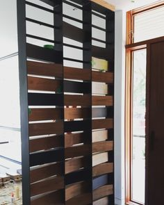 This privacy wall is a showstopper! This project homestretch gives us all the feels! Privacy Walls, Custom Woodworking, Divider, Feels, Projects, Room, Furniture, Home Decor, Log Projects