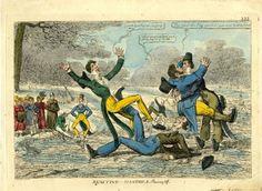 1824 Skating Dandies Showing Off