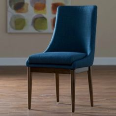 belham living carter mid century modern upholstered dining chair set of 2