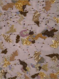 Evening Dress Beaded Fabric