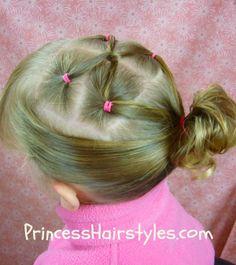 Gymnastics Hairstyles, Twist Link Ponytail Hairstyles For Girls - Hair Styles - Braiding - Princess Girly Hairstyles, Princess Hairstyles, Little Girl Hairstyles, Twist Hairstyles, Ponytail Hairstyles, Dance Hairstyles, Holiday Hairstyles, Celebrity Hairstyles, Medium Hair Styles