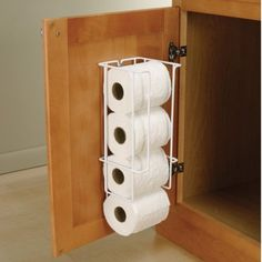 Bathroom and vanity storage products. Organize with tilt out laundry baket, oval shower rods, jewelry drawers, drawer mount ironing boards or under sink drip mats. Bathroom Vanity Cabinets, Bathroom Storage, Kitchen Cabinets, Toilet Paper Storage, Behind Toilet Storage, Primitive Bathrooms, Toilet Roll Holder, Diy Toilet Paper Holder, Under Sink