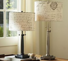 Fabric lampshades @Carrie Williams- do these match your sheets?